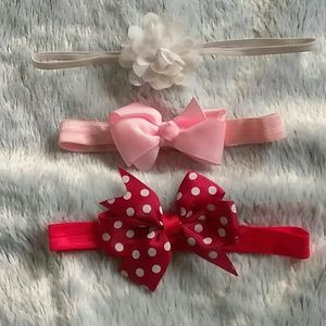 Other - Baby Girls Headband Hair Accessories Pink Red